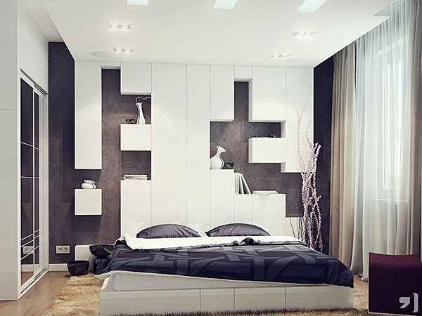 decorating-astonishing-brown-black-bedroom-amazing-modern